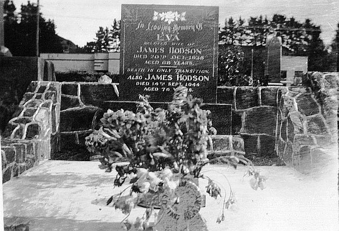 Hodson Family grave, Aramoho Cemetery, Wanganui